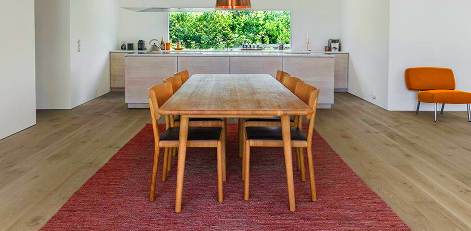 Hardwood Floor for an Open Plan Dining Room from Foster Flooring